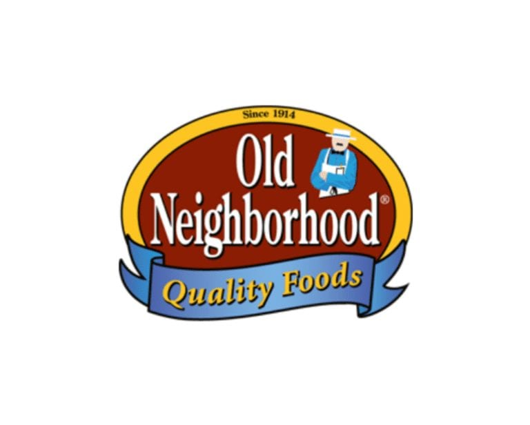 old neighborhood quality foods logo card